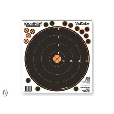 CHAMPION TARGET VISICOLOR ADHESIVE SIGHT IN 100YD 5 PK + PATCH