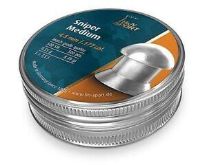 H & N SNIPER MEDIUM 8.49GR .177 PELLET 500PKT