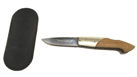 MASERIN CONSOLI LINE70MM BLADE OLIVE WOOD HANDLE NICKLE SILVER