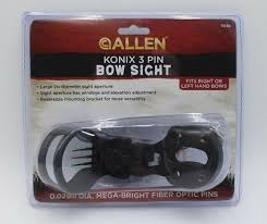 ALLEN KONIX 3 PIN BOW SIGHT RH & LH 15190 & 15192