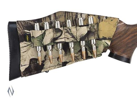 ALLEN RIFLE BUTTSTOCK 6 SHELL HOLDER CAMO