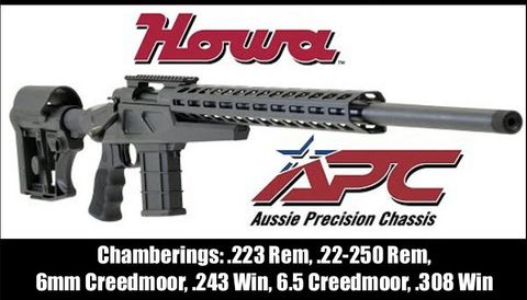 AUSSIE PRECISION HOWA SA CHASSIS INC CONVERSION AND WEAVER BASE