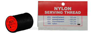BCY NO400 NYLON SERVING 100YD BLACK