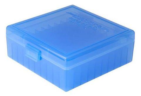 BERRY 38 - 357 CAL AMMO BOX 100RND BLUE