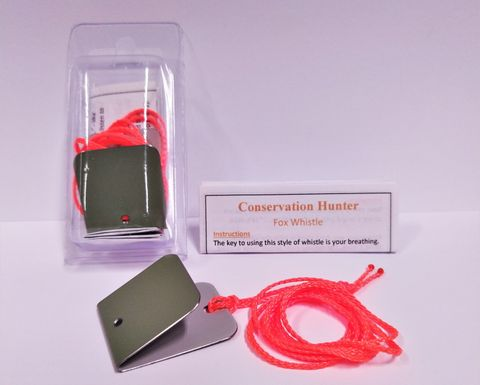 CONSERVATION HUNTER FOX WHISTLES WITH LANYARD