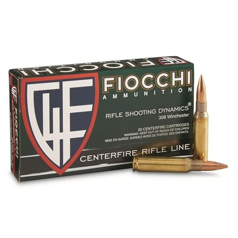 FIOCCHI SHOOTING DYNAMICS 308 150GR BTSP