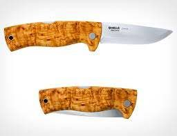 HELLE-DOKKA FOLDING KNIFE CURLY BIRCH HANDLE 84MM BLADE