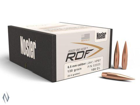 NOSLER RDF 6.5MM 130GR HPBT 100PK