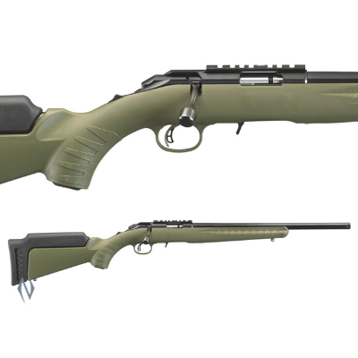 RUGER AMERICAN RIMFIRE OD GREEN BLUED 22MAG