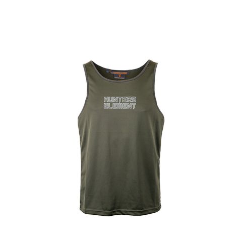 HUNTERS ELEMENT ECLIPSE SINGLET FOREST GREEN
