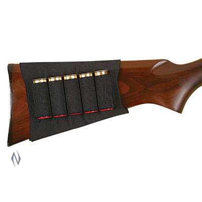 ALLEN SHOTGUN BUTT STOCK SHELL HOLDER BLACK 5RND 1