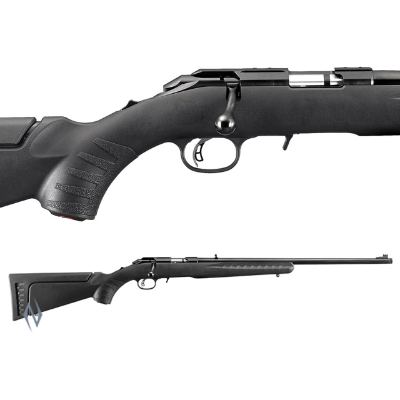 RUGER AMERICAN RIMFIRE SYNTHETIC BLUED 17HMR THREADED