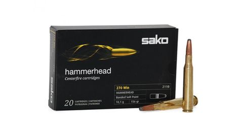 SAKO AMMO 270WIN 156GR HAMMERHEAD SP 20PKT