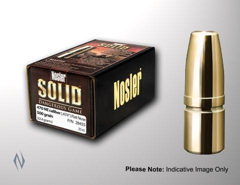 NOSLER SOLIDS 458 500GR FLAT PT 25PK