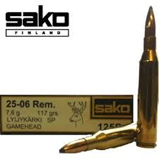 SAKO AMMO 25-06 REM 117GR GAME HEAD SP 20PKT