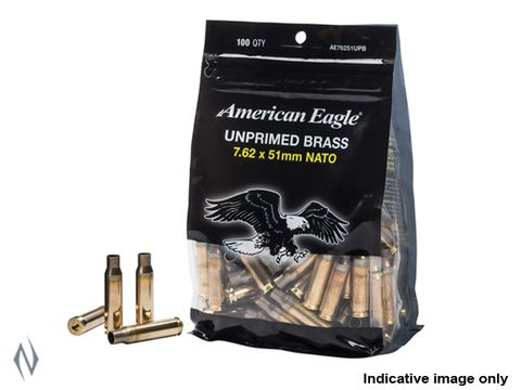FEDERAL AE UNPRIMED BRASS CASES 308/7.62X51 100 PKT