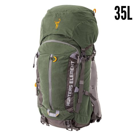HUNTERS ELEMENT BOUNDARY PACK 35L FOREST GREEN