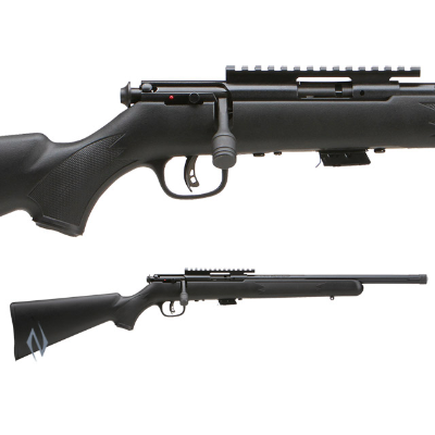 SAVAGE 93 FVSR BLUED SYNTHETIC VARMINT THREADED 22MAG 16.5