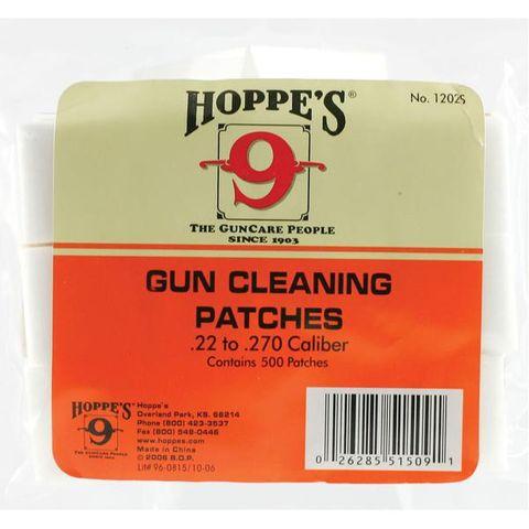 HOPPES COTTON PATCHES 22-270 CAL 500 PKT