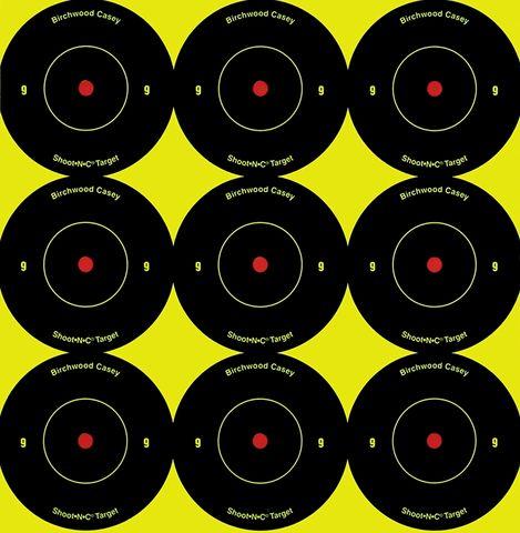 BIRCHWOOD CASEY SHOOT N SEE BULLSEYE TARGETS 2INCH 12PKT