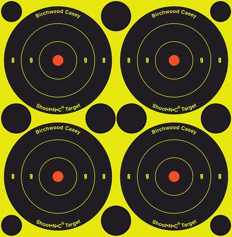 BIRCHWOOD CASEY SHOOT N SEE BULLSEYE TARGETS 3INCH 12PKT