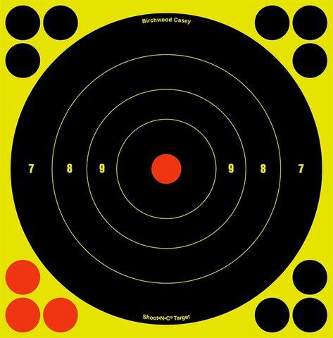 BIRCHWOOD CASEY SHOOT N SEE BULLSEYE TARGETS 8INCH 6PKT