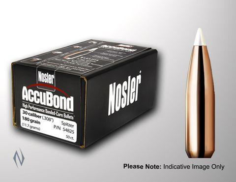 NOSLER 30CAL .308 180GR ACCUBOND PROJECTILES 50PK