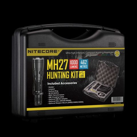 NITECORE  TORCH MH27 HUNTING KIT 1000 LUMENS 462M RECHARGEABLE