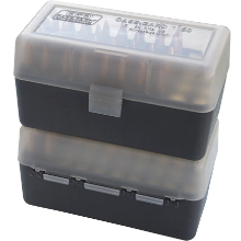 MTM 50RND AMMO BOX 22-250-308  SMOKE