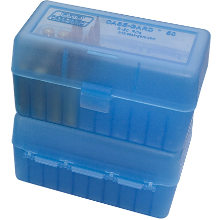 MTM 50RND AMMO BOX 222 223 CLEAR BLUE