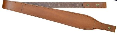 COLONIAL LEATHER 60MM BROWN TAPERED WOOL PADDED SLING