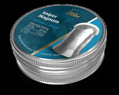 H & N SNIPER MAGNUM 17.90GR .22 PELLET 250PKT
