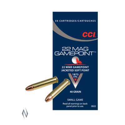 CCI GAME POINT 1875FPS 22WMR 40GR JSP 50PKT