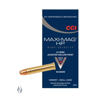 CCI MAXI MAG 1875FPS 22WMR 40GR JHP 50PKT