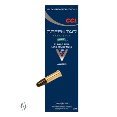 CCI GREEN TAG 1070FPS 22LR 40GR LRN 100PKT