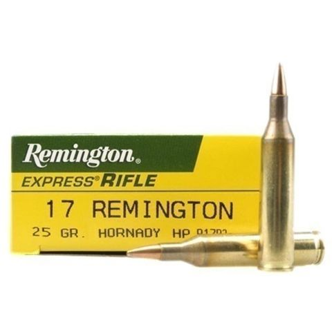 REMINGTON 17REM 25GR HORNADY HP 20PKT