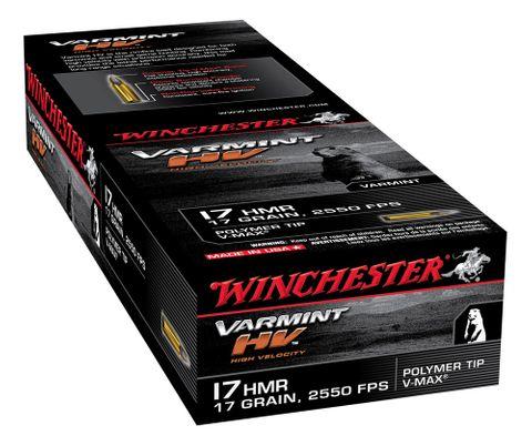 WINCHESTER VARMINT HV 2550FPS 17HMR 17GR 250PKT