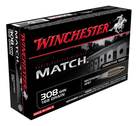 WINCHESTER SUPREME MATCH 308WIN 168GR MATCHKING 20PKT