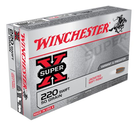 WINCHESTER SUPER X 220 SWIFT 50GR PSP 20PKT