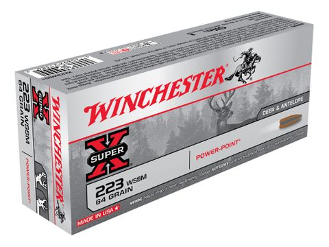 WINCHESTER SUPER X 223WSSM 64G PP 20PKT
