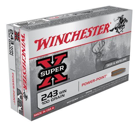 WINCHESTER SUPER X 243WIN 100GR PSP  20PKT