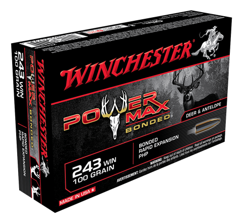 WINCHESTER POWER MAX BONDED 243WIN 100GR PHP 20PKT