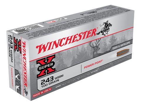 WINCHESTER SUPER X 243WSSM 100GR PP 20PKT