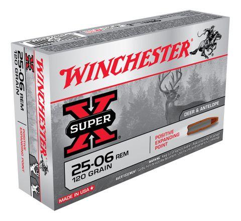 WINCHESTER SUPER X 25-06REM 120GR PEP  20PKT