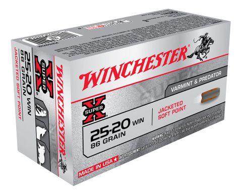 WINCHESTER SUPER X 25-20WIN 85GR SP  50PKT