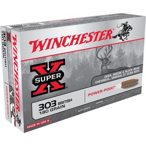 WINCHESTER SUPER X 303BRIT 180GR PP  20PKT