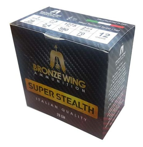 BRONZE WING SUPER STEALTH 12GA 28 7.5 1275FPS  250PKT