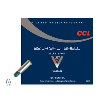 CCI SHOTSHELL 1000FPS 22LR 12SHOT 20PKT