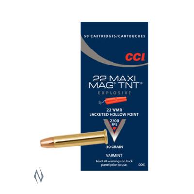 CCI MAXI MAG TNT 2200FPS 22WMR 30GR JHP 50PKT