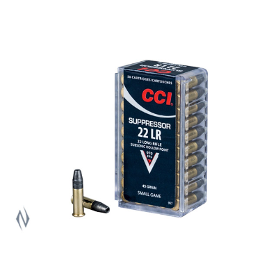 CCI SUPPRESSOR 970FPS 22LR 45G HP 50PKT